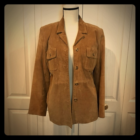 Style & Co Jackets & Blazers - Style and Co Suede jacket, size M